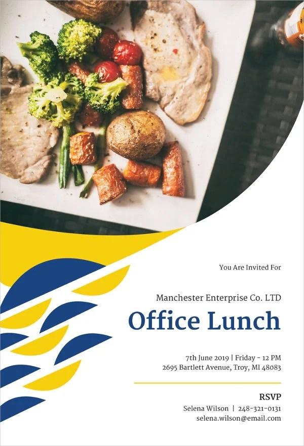 8 Office Team Lunch Invitation Designs Templates PSD AI Free Premium Templates