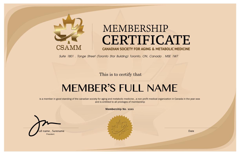 8 Medical Membership Certificate Templates Pdf Free