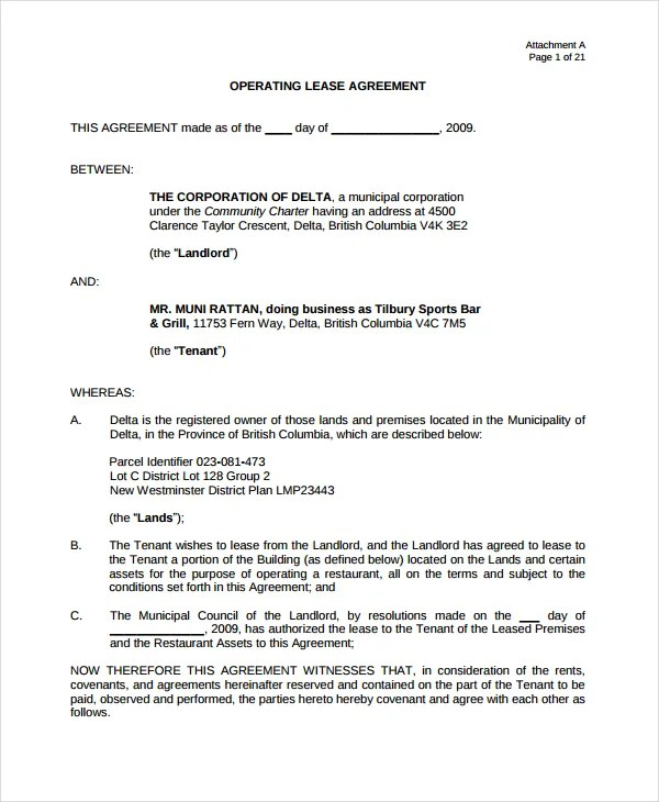 10 Lease Agreement Templates For Restaurant Cafe Bakery PDF Word Free Premium Templates