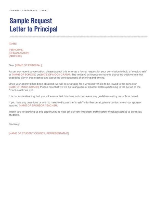 18+ Request Letter to a Principal Templates - PDF  Free & Premium