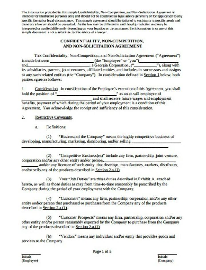 10 Restaurant Non Compete Agreement Templates PDF WordDocs Free Premium Templates