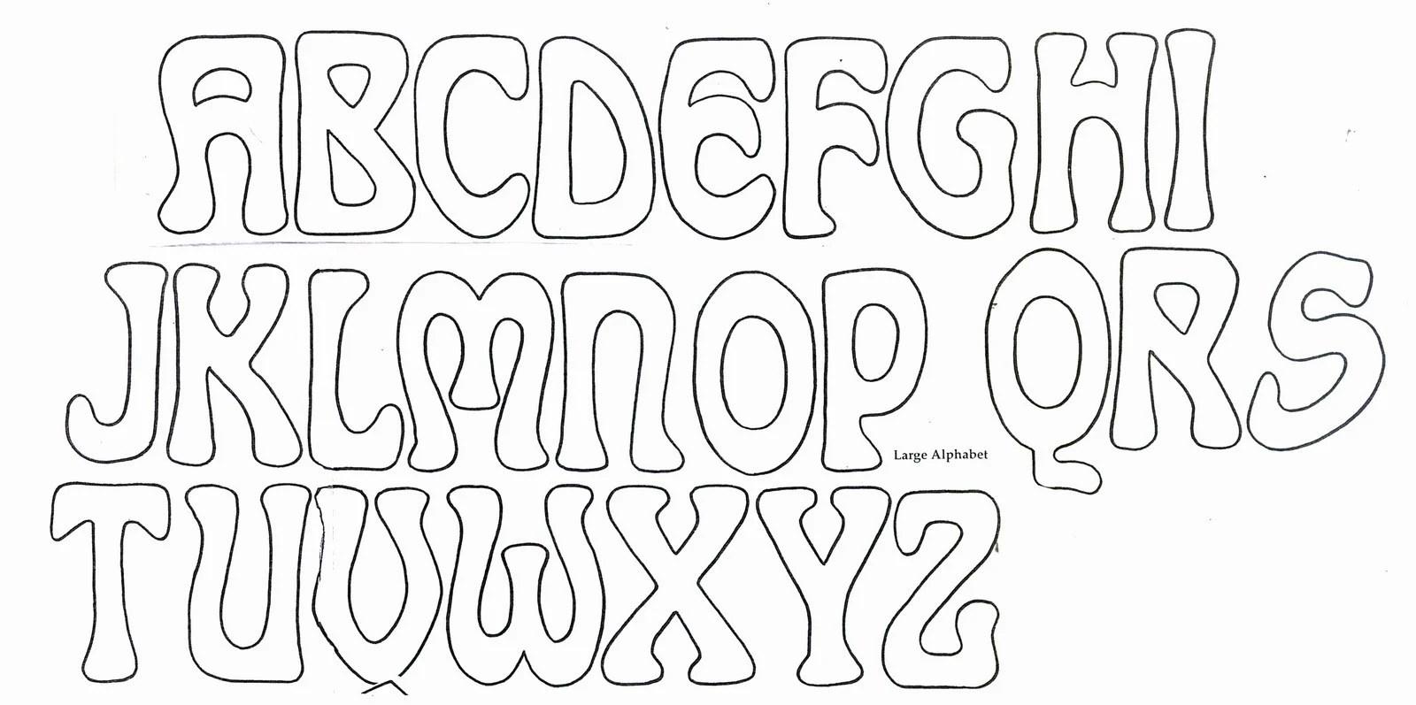 4 Alphabet Outline Templates