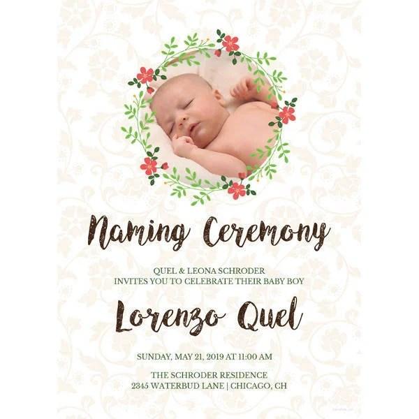 37 naming ceremony invitations psd