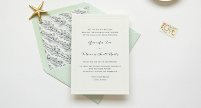 9 Letterpress Wedding Invitation