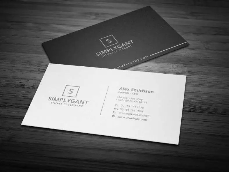 14 Simple Minimal Business Card Templates Word AI PSD Free Amp Premium Templates