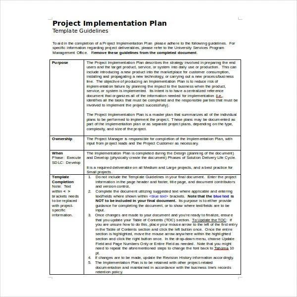 11 Implementation Plan Templates DOC PDF Google Docs Apple Pages Free Amp Premium Templates