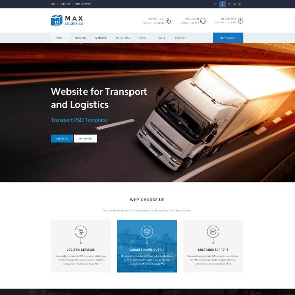 17 Trucking Logistics Website Themes Templates Free