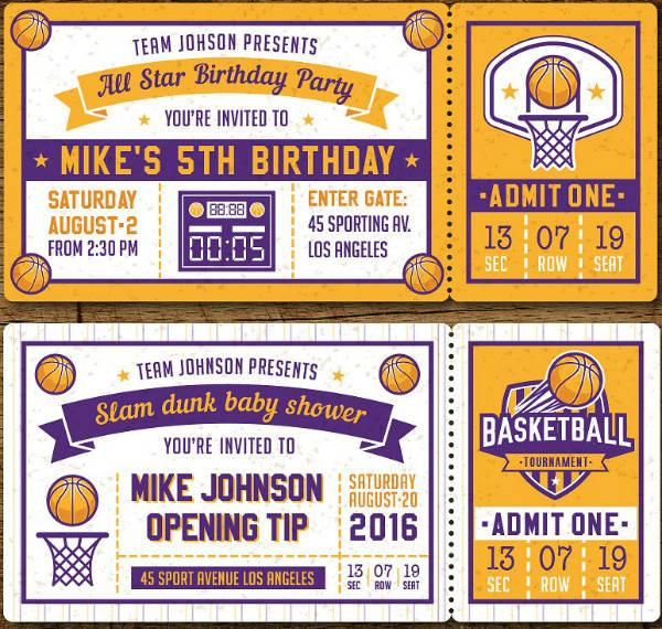 26 sports ticket invitation designs