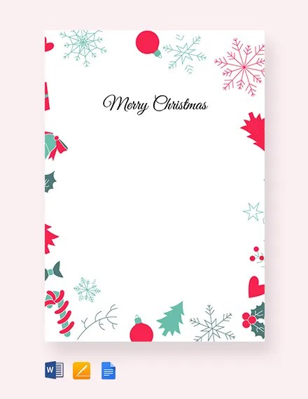Christmas Letters 16 Free Pdf