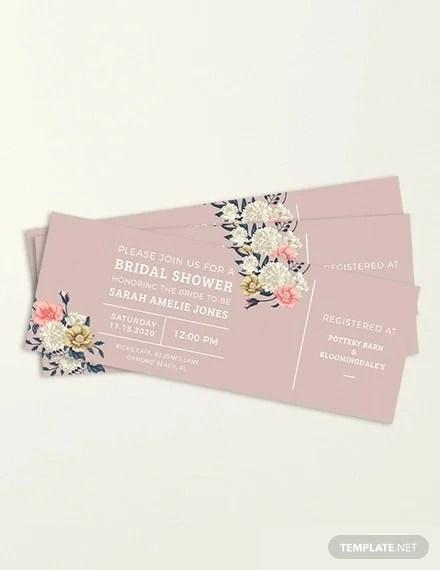 49 ticket invitation templates psd