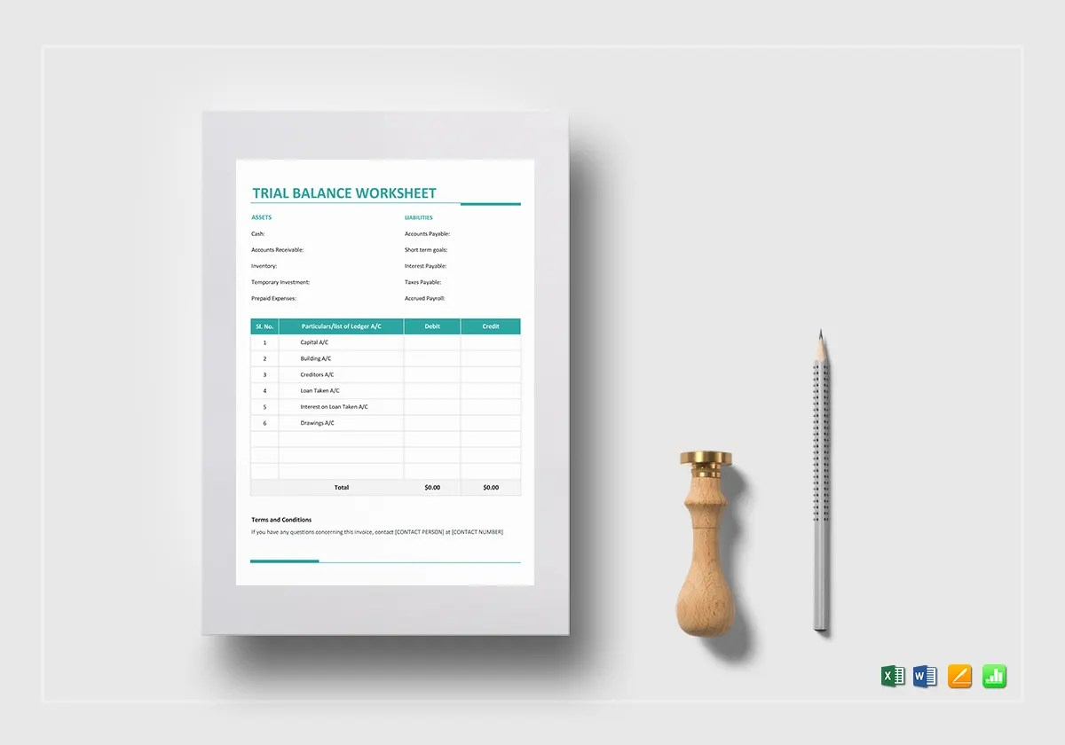 12 Monthly Balance Sheet Templates