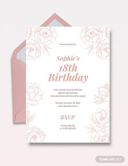 sample invitation letter for 18th birthday