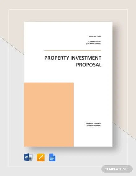 12 Real Estate Investment Proposal Templates Pdf Word
