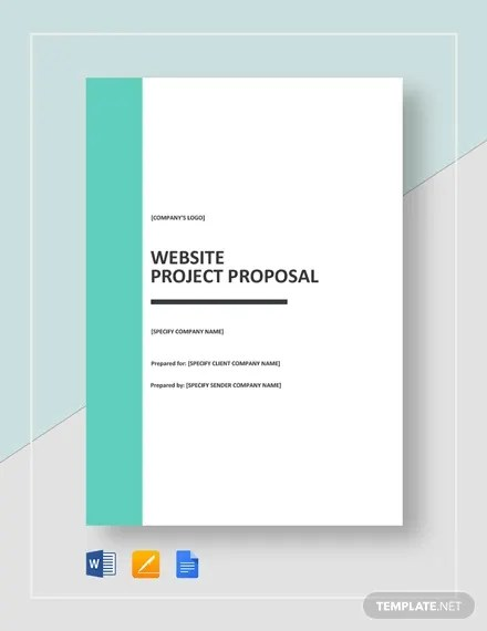 12 Website Project Proposal Templates Pdf Word Pages