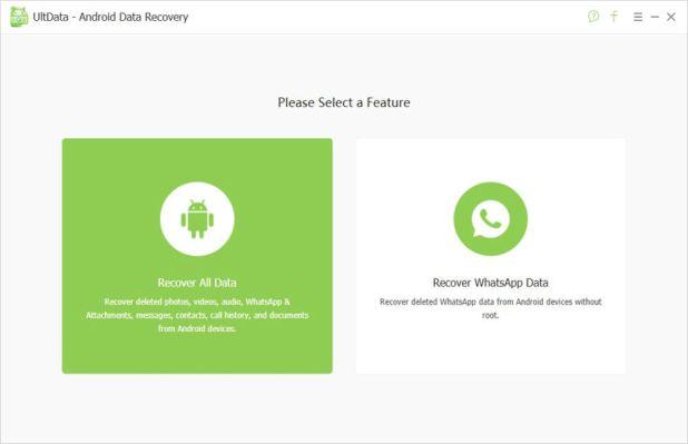 Connectez le Samsung Galaxy S6 pour rechercher les données perdues