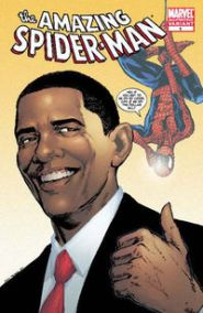 nov088096d Obama Guest-Stars in Amazing Spider-Man #583