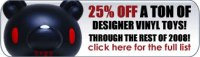 25vin Final Two Days for Free Gift Cards and Cheap Collectibles and Vinyl Toys!