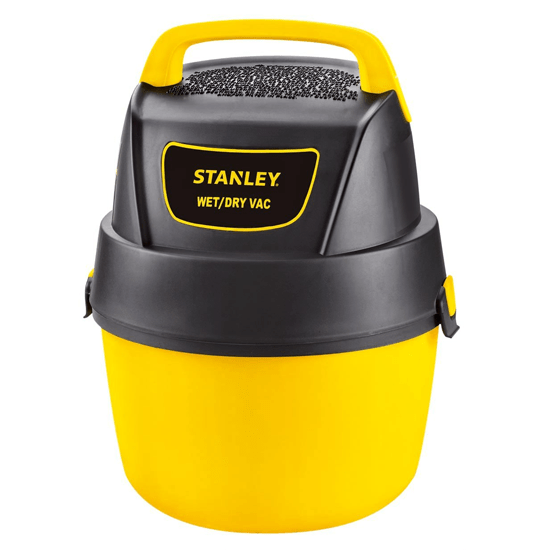 SECRET DEAL - (Very Few Available) - Stanley Wet/Dry Portable Vacuum with Wall Mount - Use in the house, garage and also GREAT for cleaning out your car! Clean up dry AND wet messes! Tons of power in an easy to handle size! Limit 4 Per Customer