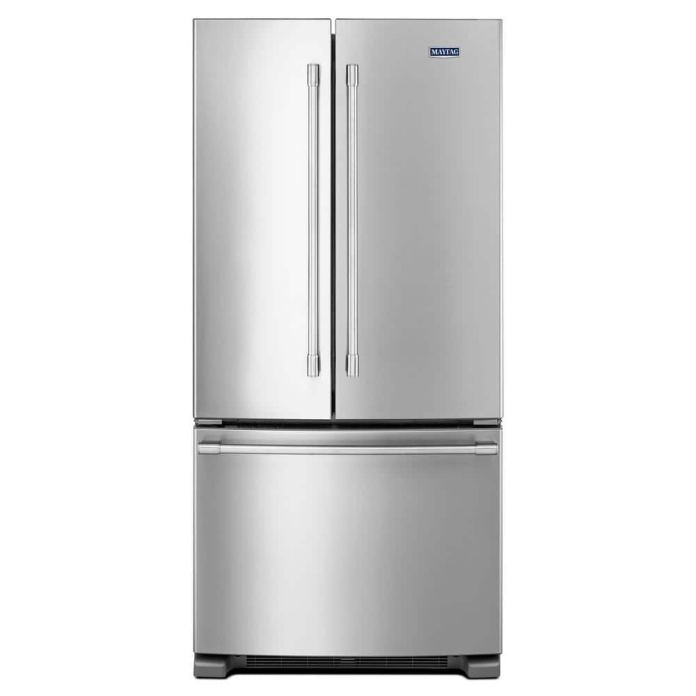 Reviews For Maytag 22 Cu Ft French Door Refrigerator In Fingerprint Resistant Stainless Steel Mff2258fez The Home Depot