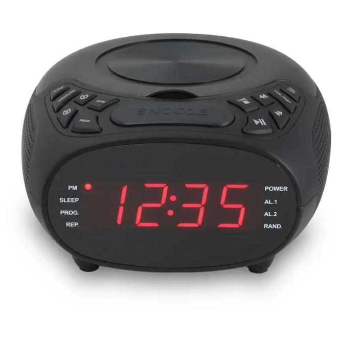 Gpx Dual Alarm Clock Fm Radio With Cd