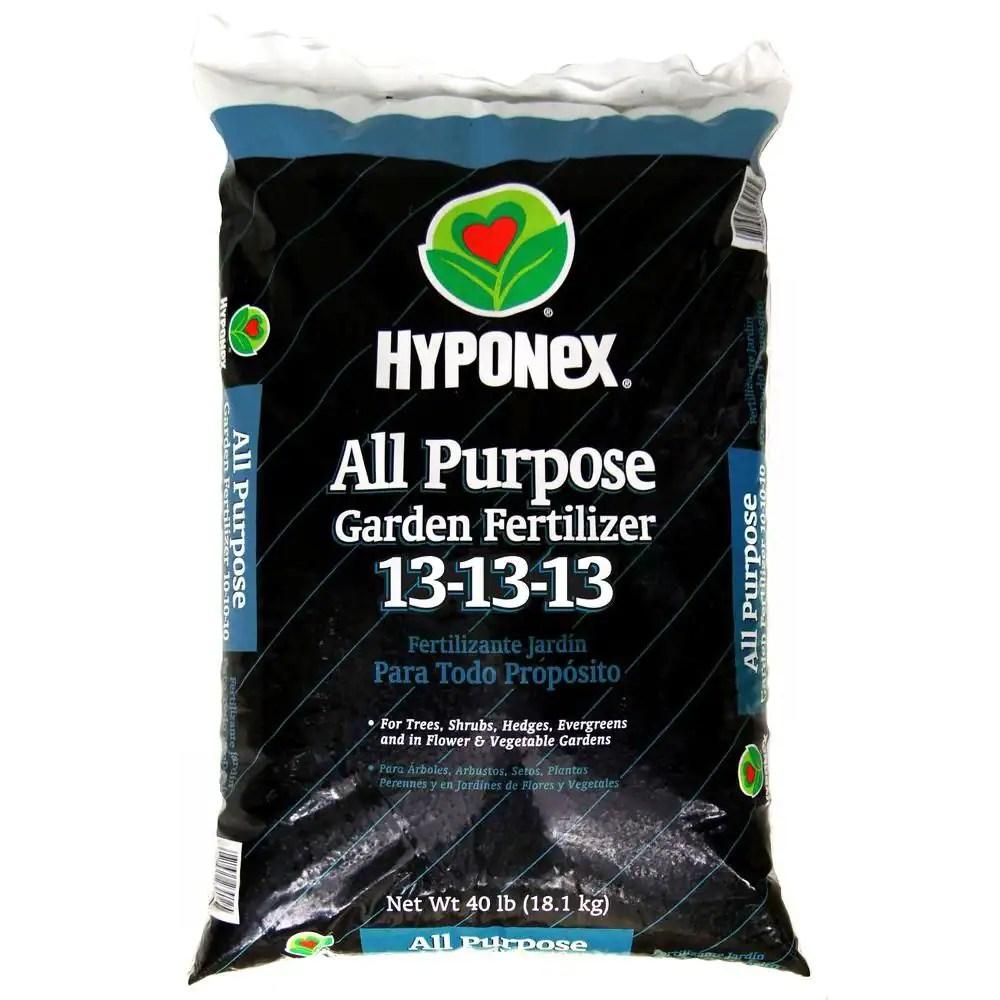 Hyponex 13 13 13 40 Lb All Purpose Fertilizer 522962 The Home Depot