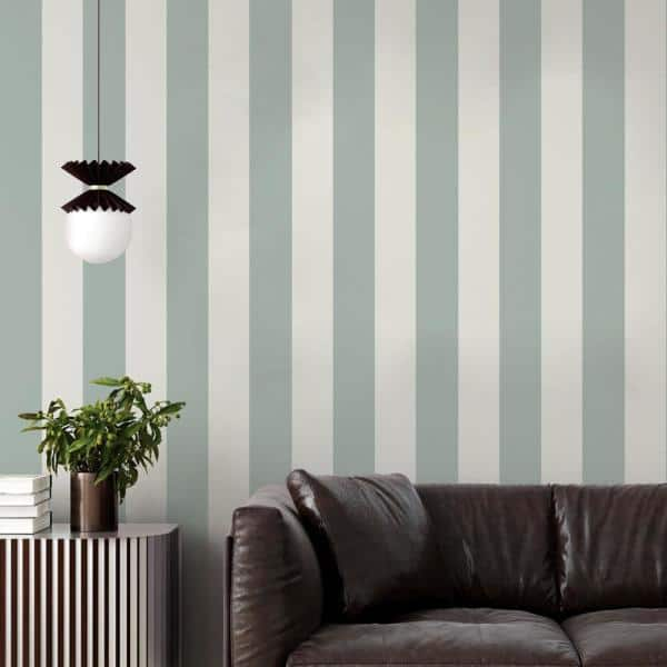 Tempaper Stripe Seafoam Green Peel And Stick Wallpaper Covers 28 Sq Ft St10639 The Home Depot