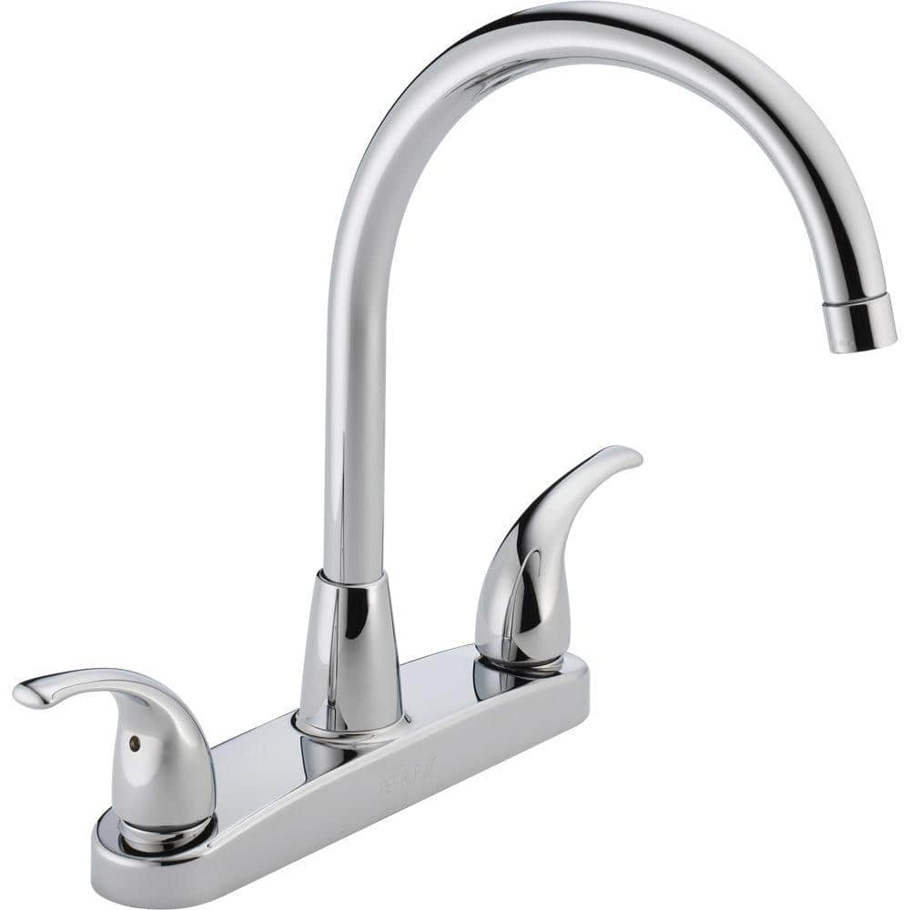 Peerless Choice 2 Handle Standard Kitchen Faucet In Chrome P299568lf The Home Depot