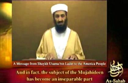 Osama bin Laden in a speech broadcast last year. He is reportedly planning an attack against the United States that will