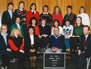 Peter Searson (bottom row, second from right) and Carmel Rafferty (top row, second from right).