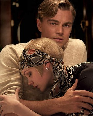 Leonardo DiCaprio, as Jay Gatsby and Carey Mulligan as Daisy Buchanan in <i>The Great Gatsby</i>.