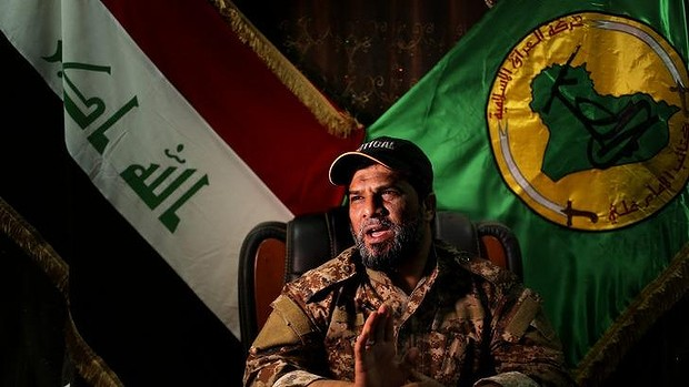 Haji Jaafar al-Bindawi, of the Imam Ali Brigades: sceptical of Western motives in Iraq.