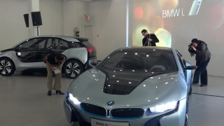 BMW i3 and i8 preview, New York City, November 2011, photo by Tom Moloughney