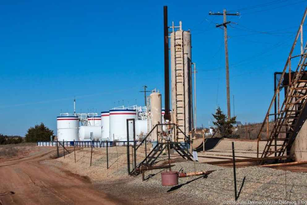 wastewater injection well in Coyle, Oklahoma