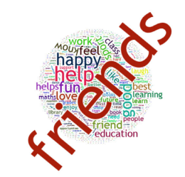 Image of the word friends