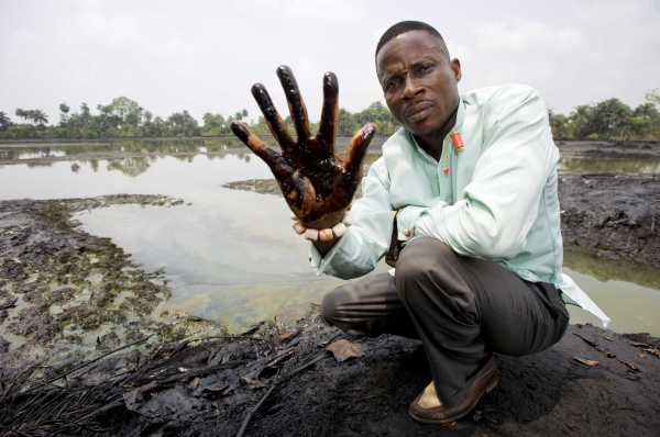 Farmland, fish ponds and drinking water sources have all been contaminated with oil pollution in the Niger Delta. [Photo: The Conversation - EPA/MARTEN VAN DIJL]