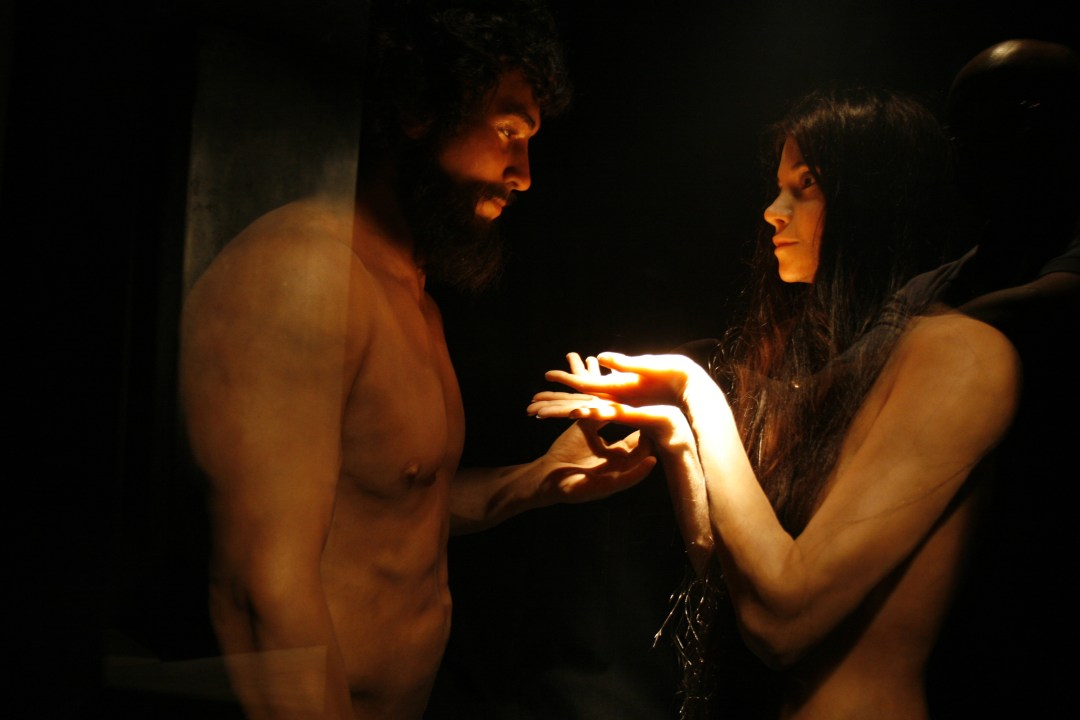 Life-size Adam and Eve statues