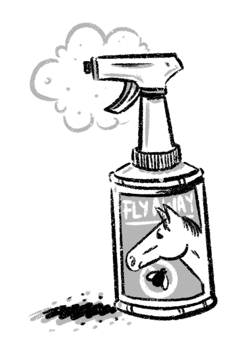 Can of horse flyspray