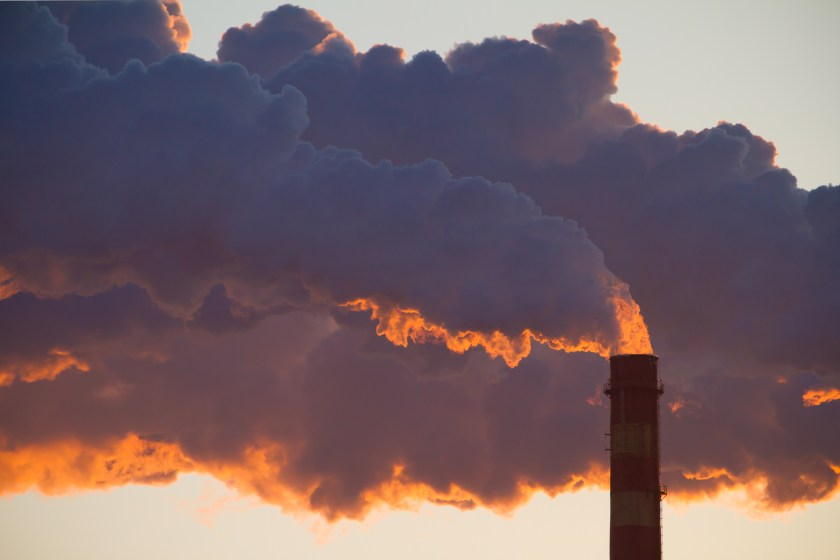 CO₂ is released in industrial emissions