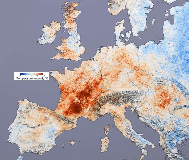 2003 European heave wave map