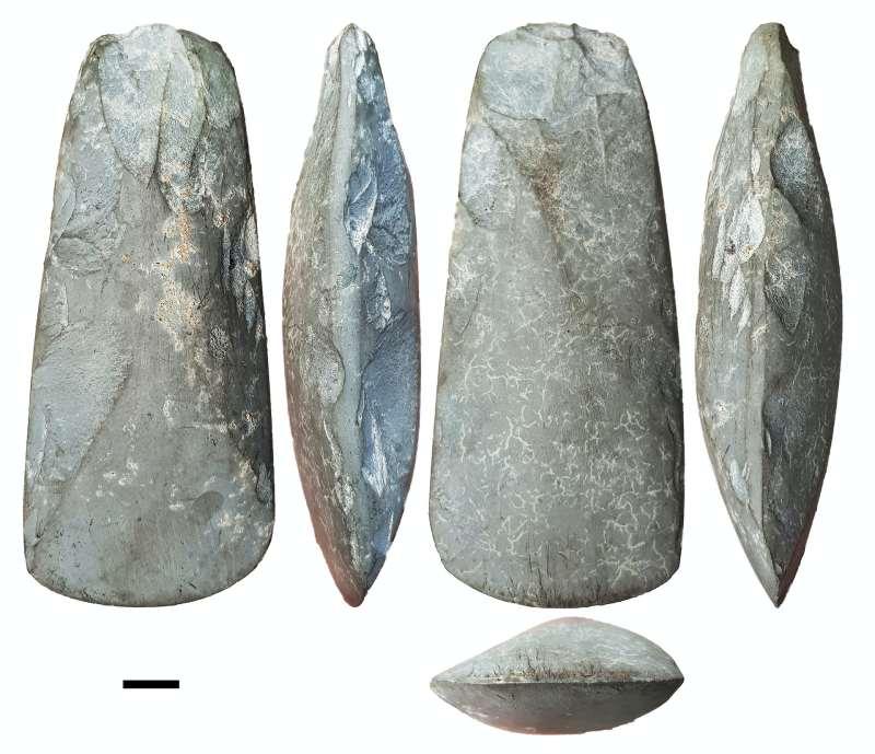 Various views of stone axes