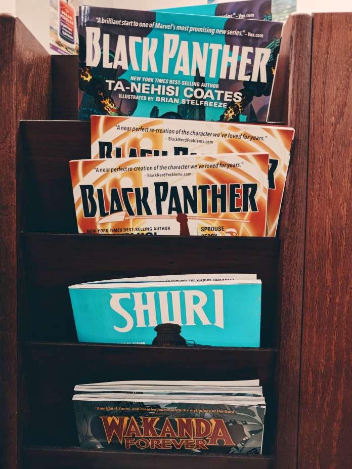 Black Panther Marvel Comic books.