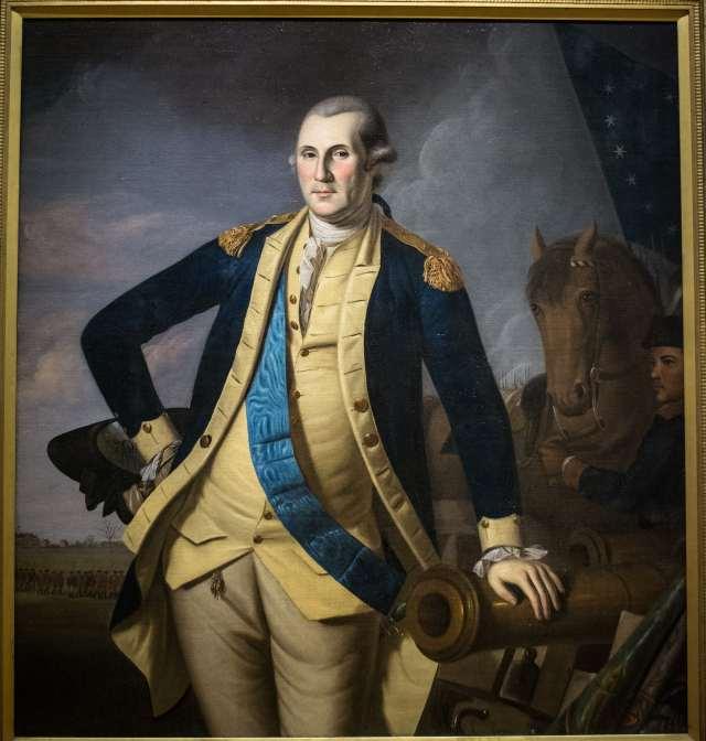 George Washington in his military uniform