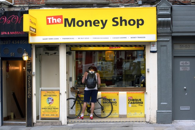 Customer borrowing from The Money Shop
