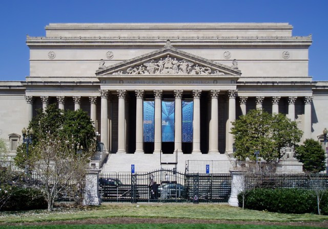 The neoclassical National Archives building in Washington, D.C.