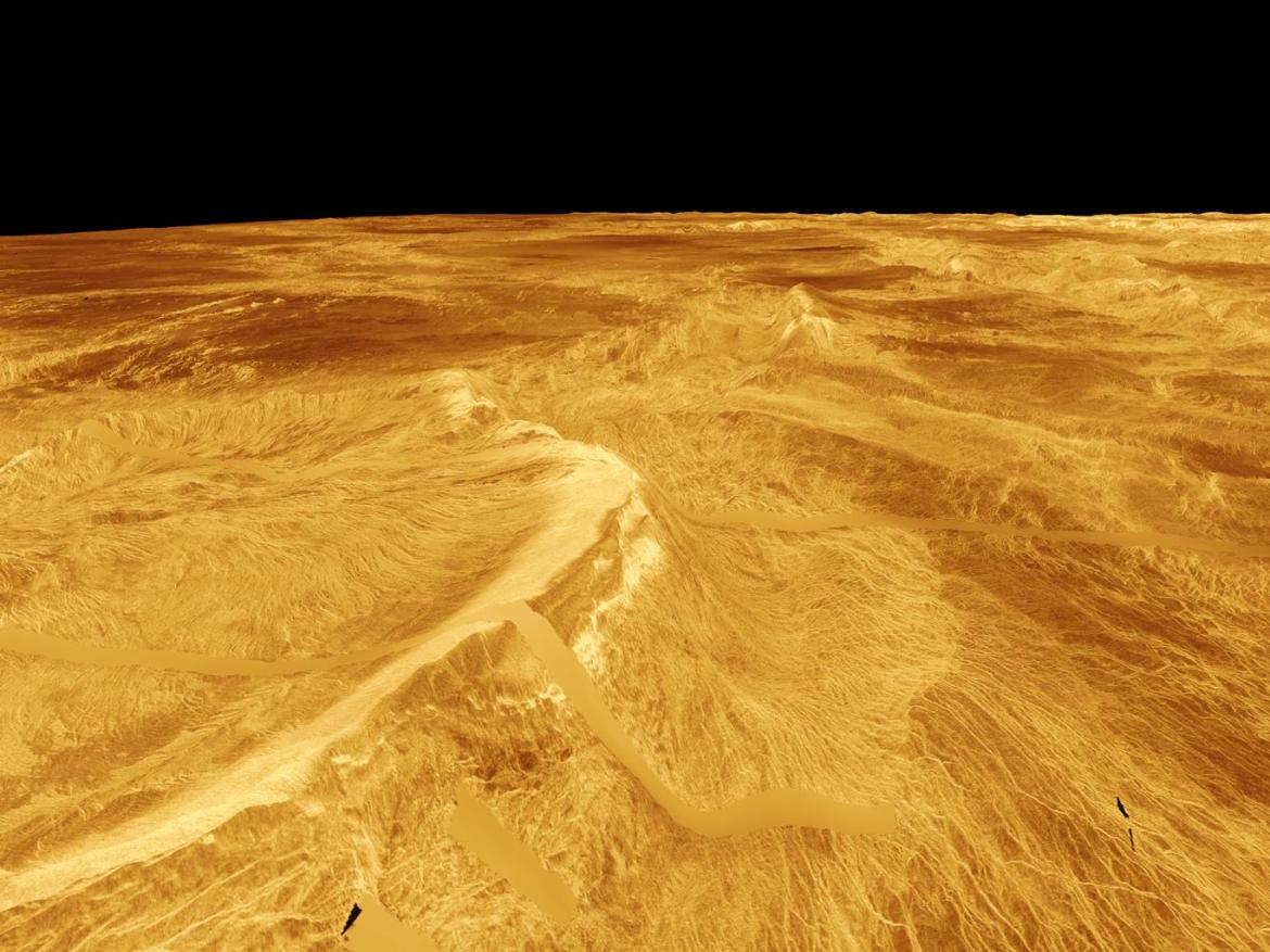 Picture of Venus' surface.