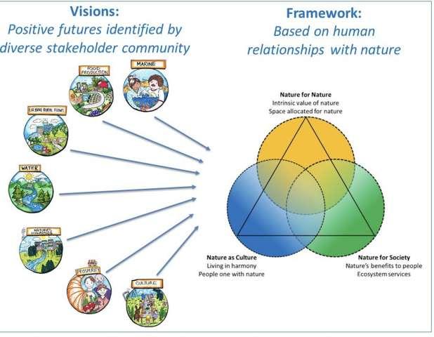 Graph displaying desireable future frameworks