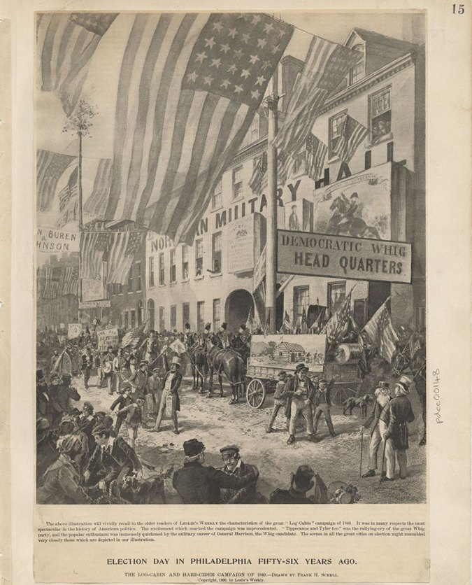 Crowd on Election Day in Philadelphia in 1840.