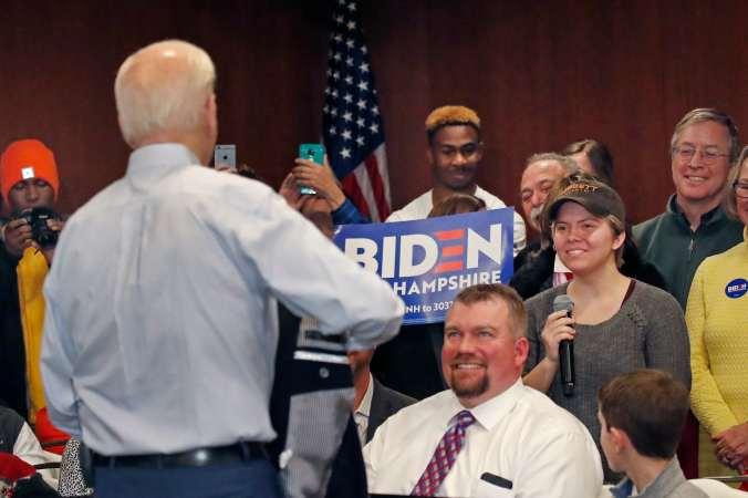 Joe Biden at a New Hampshire campaign event