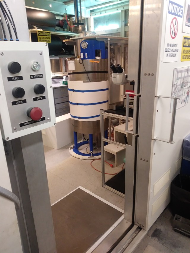 View of magnetometer equipment at MIT.