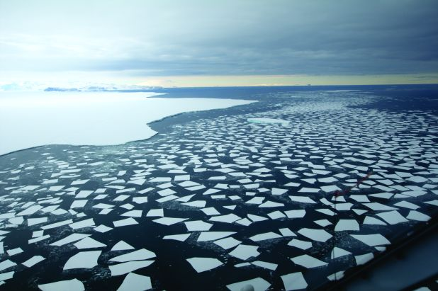 Southern Ocean, with open ocean and sea ice